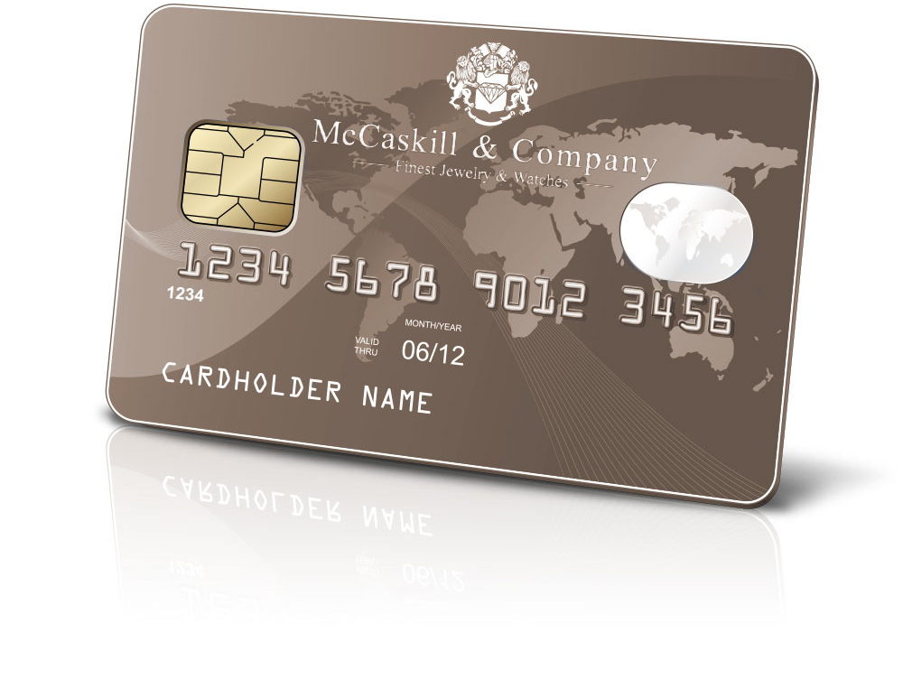 We offer Credit Cards and Financing at McCaskill & Company Jewelers - Destin, FL