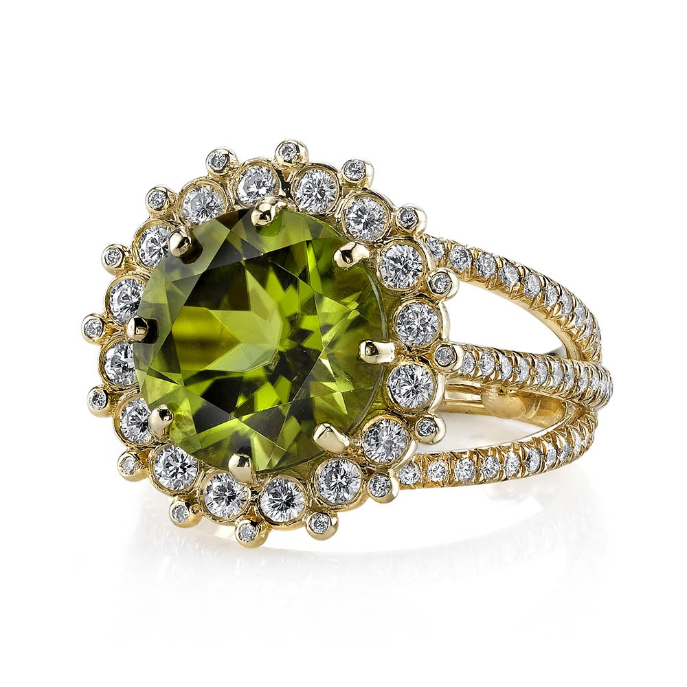 gold boutique peridot engagement wedding vintage ring gemstone white rings diamond image