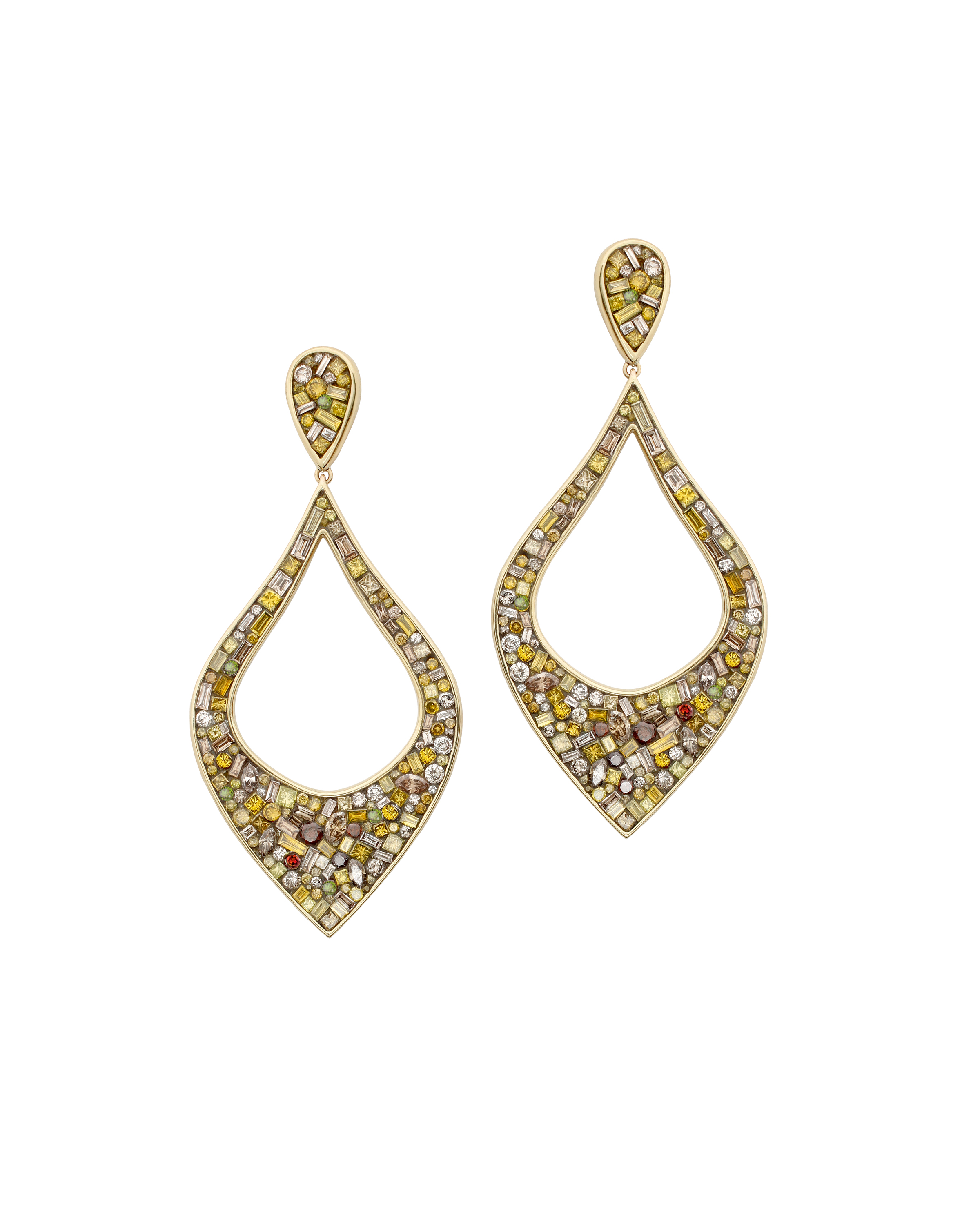 pin diamond dangle earrings ct teardrop drop champagne