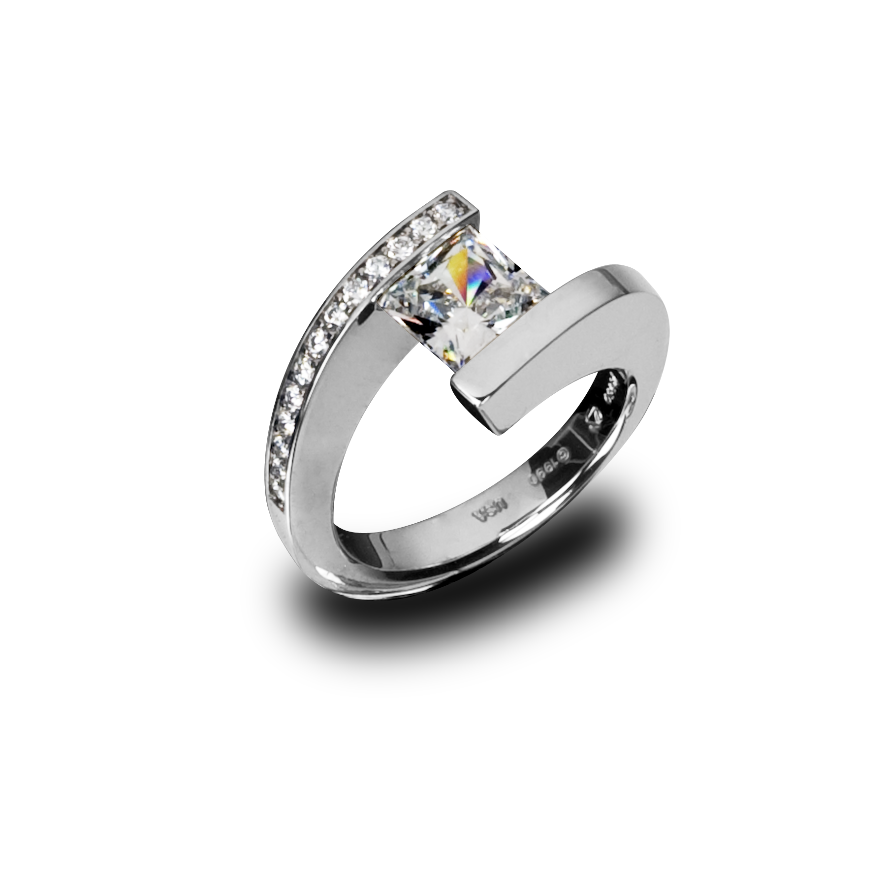 rings engagement mirell titanium ring diamond jolie set edward d tension