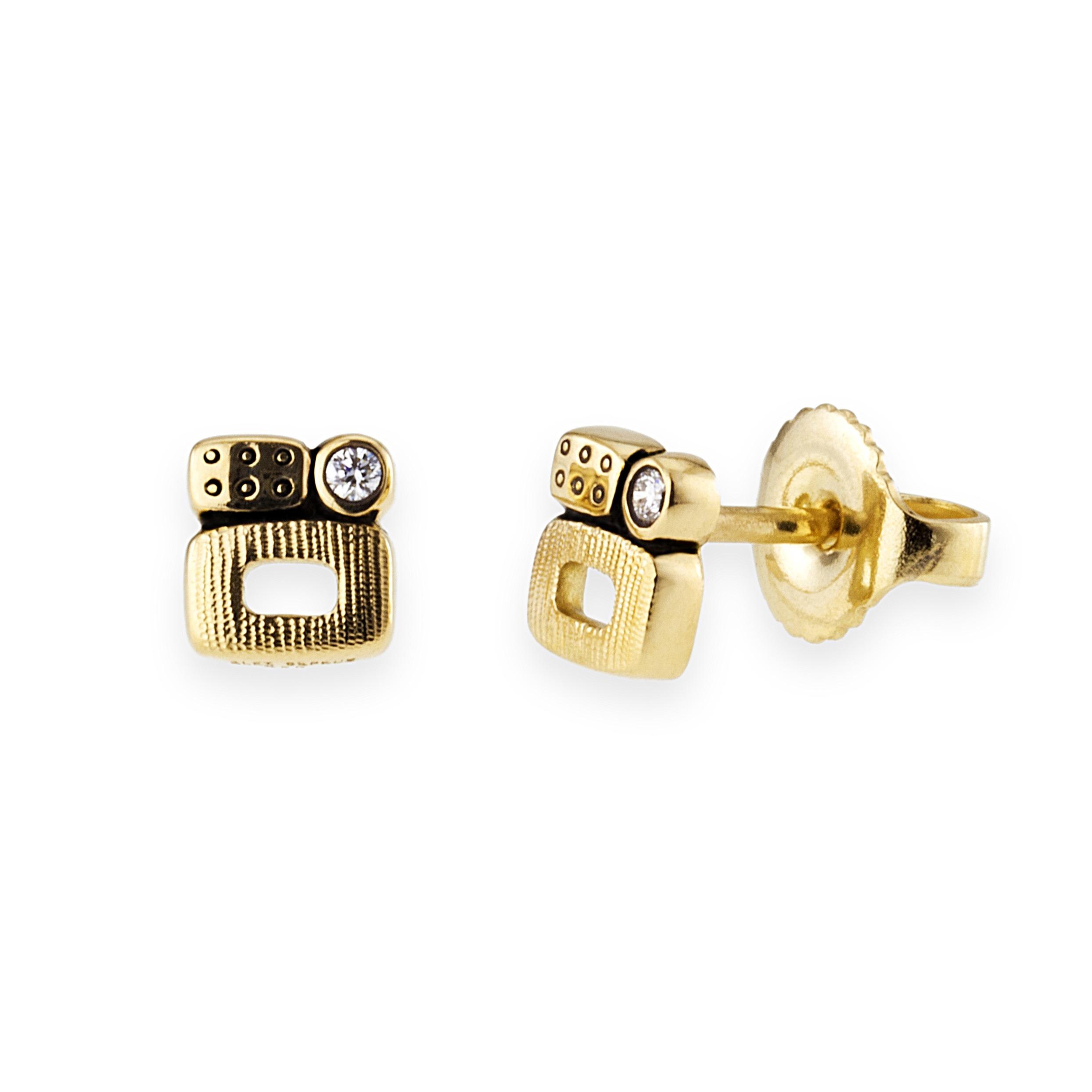 Little Windows Yellow Gold With Diamond Earrings Mccaskill And Company Destin Fl